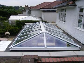 Mr & Mrs J. - Lymme Cheshire : Installation of HWL Skylight System. Double Glazed with Celsius one Blue U value 1.