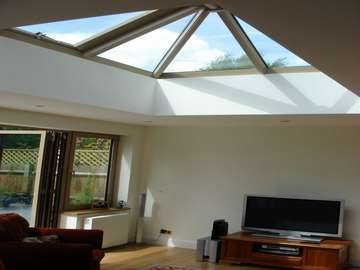 A. BENNET CONSTRUCTION - Dunham Forrest Cheshire : Installation of a Aluminium Skylight constructed in HWL Thermally Broken Aluminium RAL 1019 Satin. Windows and doors S 300. Thermally Broken Aluminium Double glazed with Pilkinton K Glass units