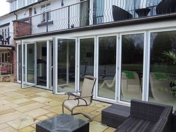 MOLYNEAUX CONSTRUCTION - SALE CHESHIRE - Allstyle Aluminium Bi Fold doors self clean glass . std white Cheshire bi fold doors near Manchester for aluminium bi folding windows - Aluminium Bi-fold doors bespoke 44m triple glazing - near alderley edge SK9 near Macclesfield SK11 Our Aluminium Bi fold range is polyester powder coated. They can come with either 28 mm argon filed double glazing or 44mm argon filed triple glazing. Our range of Aluminium Bi-fold doors are Centor C1, Schuco, allstyle, Upvc, and wood Bifolds. Our Aluminium Bifolds can be found on the Wirral in areas such a Caldy CH48, Aluminium Bifold doors can also be found in West Kirby CH48. Due to an explosion in property in Liverpool there are many more aluminium Bifold doors being installed in areas such as Formby, Crosby and Southport. Our aluminium Bi-fold doors can also be found in Alderly Edge, Aluminium Bifold doors can be found in Nutsford and Tarpoley. Our Aluminium Bifold doors can also be found in Prestbury,